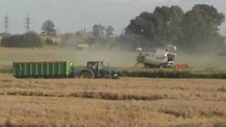 Wheat harvest  2012 ( Moisson, Żniwa, Harvesting ) Claas Lexion 540 and 450 - Lithuania