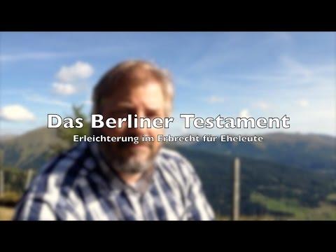 Erbrecht   Berliner Testament - Tolle Sache für Eheleute   RA-Video.tv #06