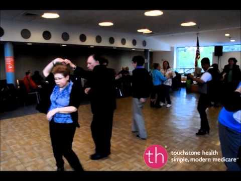 Seniors Salsa Dancing Fun at Touchstone Health Dance Event, Bronx NY
