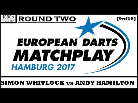 Round 2 [9of16]: Simon Whitlock v Andy Hamilton & Interview - European Darts Matchplay 2017 HD