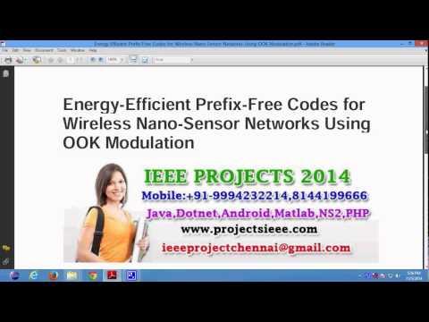 Energy Efficient Prefix Free Codes for Wireless Nano Sensor Networks Using OOK Modulation