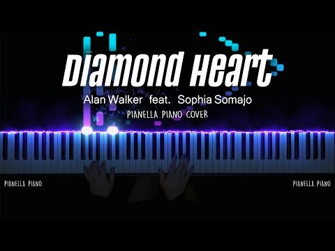 Alan Walker - Diamond Heart (Piano Cover By Pianella Piano) [ft. Sophia Somajo]