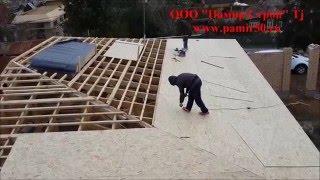 Кровельные работы, Трехскатная крыша гаража ООО
