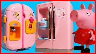 粉紅豬小妹佩佩豬的冰箱玩具,用培樂多黏土做冰淇淋