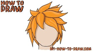 How to Draw Hair  Drawing Anime amp Manga Hairstyles Step