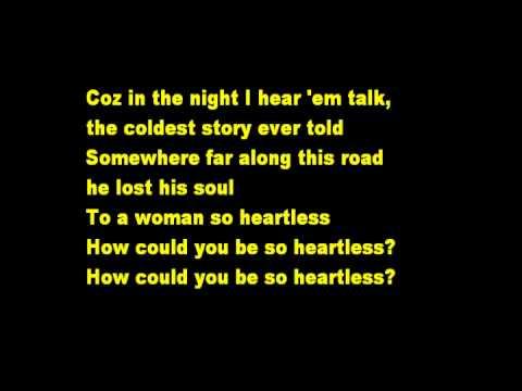 Heartless -Lyrics (Kris Allen)