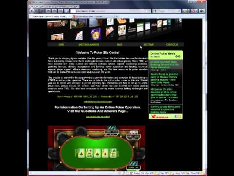 PokerSiteCentral.com Starting A Poker Website With Turnkey White Label Software
