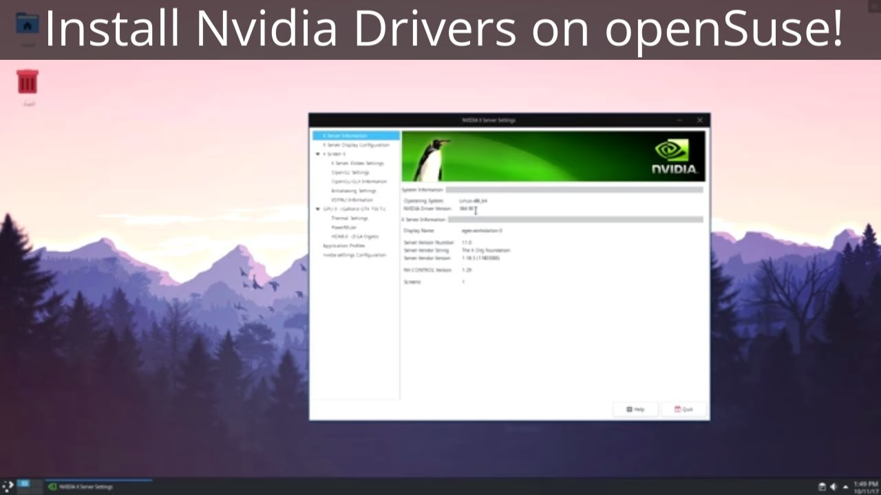 Installing Nvidia Drivers on openSuse Leap 42 3