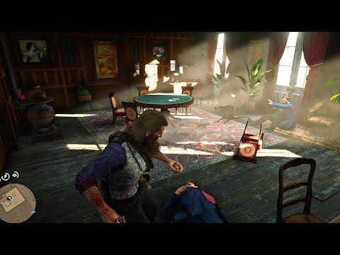 Red Dead Redemption 2 - Secret Black Market Gambling Room In Saint Denis Gunstore