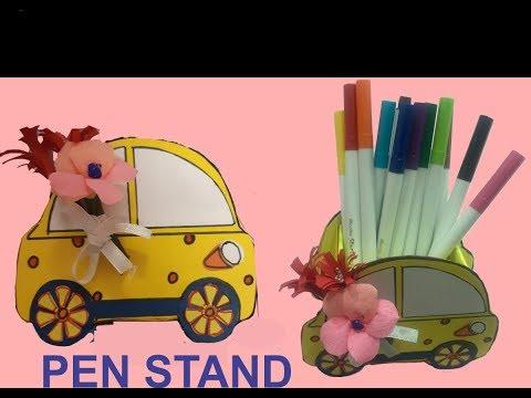 Latest 2019 #How to make a pen stand # Diy pen holder # Desk organiser
