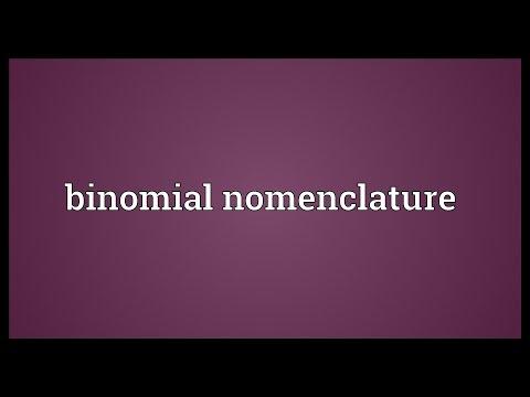 Binomial nomenclature Meaning