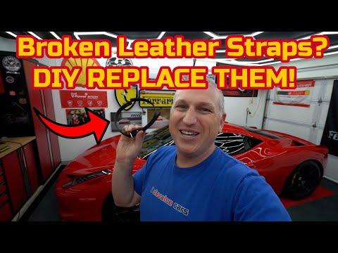 Ferrari 458 BROKEN Leather Strap DIY Replacement