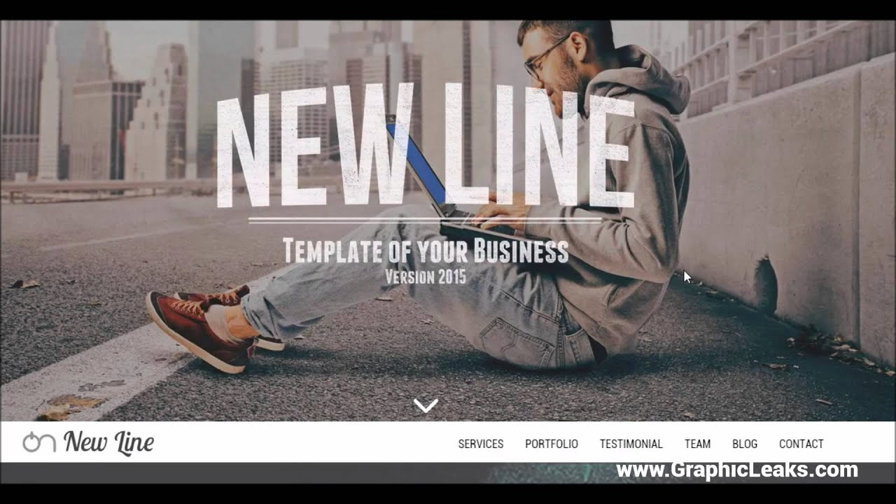 New Line | Free HTML Website Template | CreativeMarket - YouTube