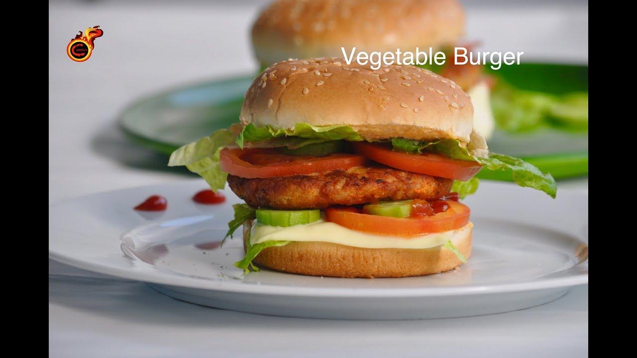 Easy Vegetable Burger Tasty Veg Burger Bachelors Dish Ep 465
