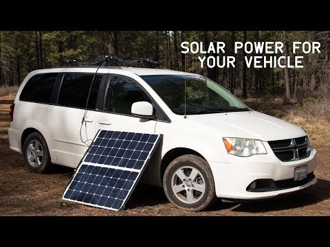SOLAR POWERED VEHICLE - How To Equip Your Car, Truck, Van or Camper with a Roof-Mounted Solar System