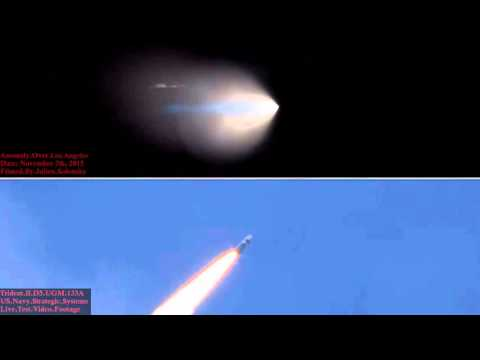 UFO Filmed Over Los Angeles 11-7-2015 Compared To An Actual Trident II D5 Missile