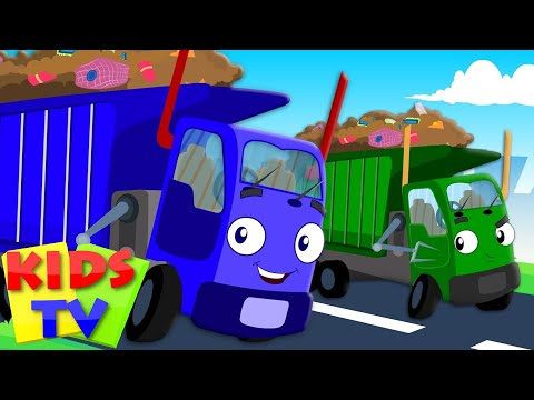 Wheels On The Garbage Truck Go Round And Round | Nursery Rhymes | Kids Baby Rhymes | Kids Tv