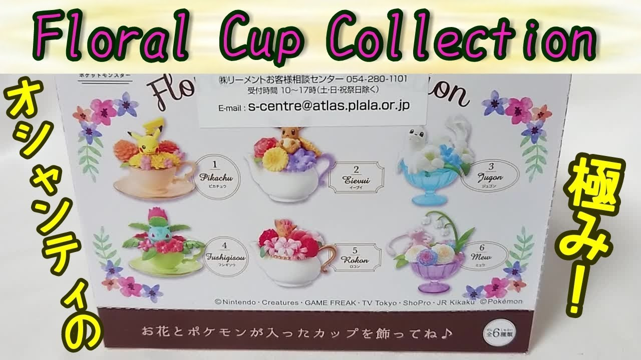 Re-Ment Miniature PokeMon Floral Cup Collection Set # 2 Eevee Eievui