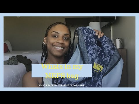 What's in my MEPS bag| what I'm taking to boot camp