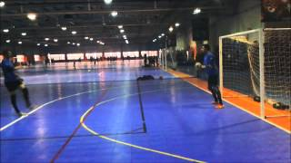 Birmingham Futsal Club. Goalkeeper's Training. Serving