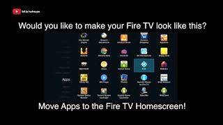Fire tv hack how to put sideloaded apps on home screen amazon firetv