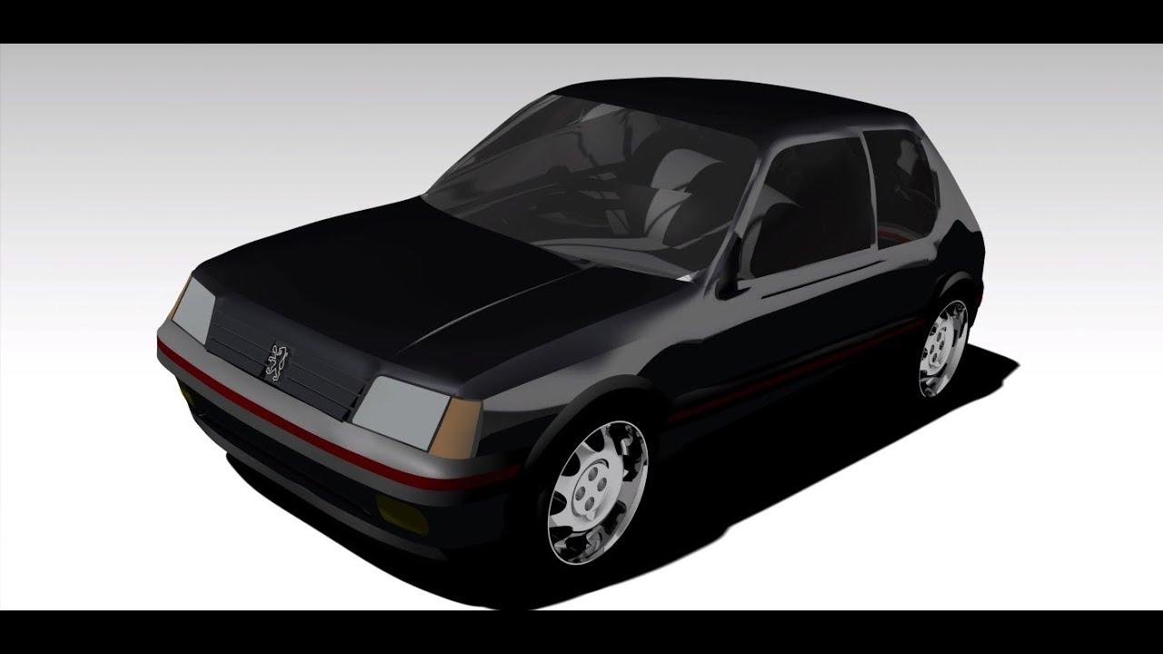 Design of car model - Catia V5 Peugeot 205 Gti Car Model Cad