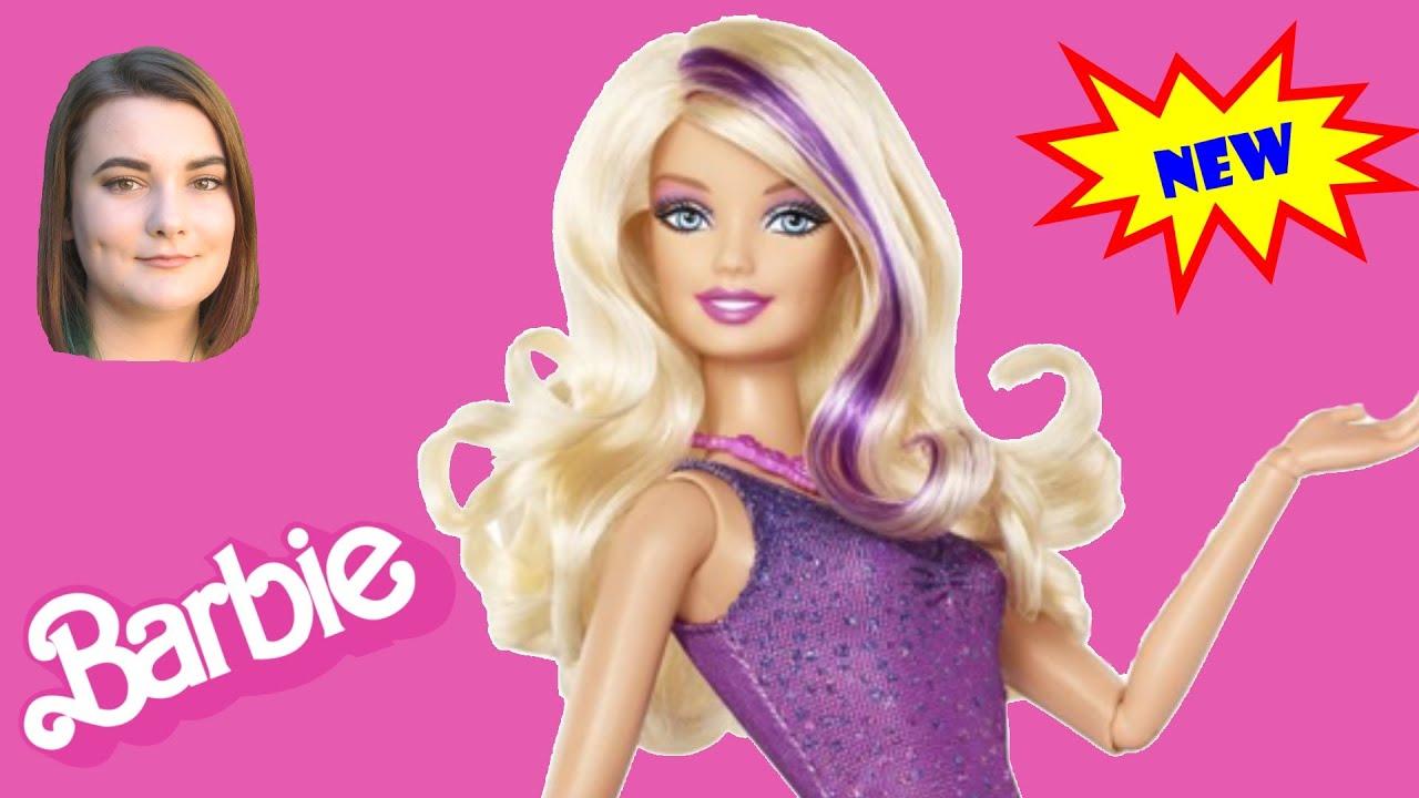 b7c584dbf7 Barbie Fashionista Doll with Purple Dress - YouTube