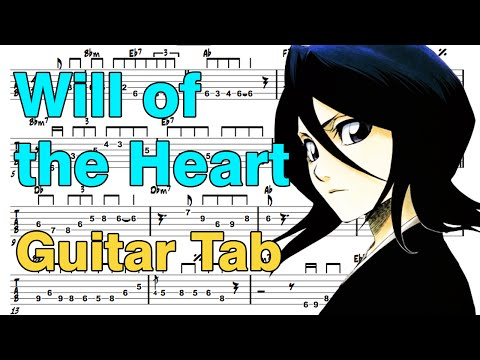 learn how to play will of the heart fingerstyle acoustic guitar lesson tabs (bleach.ost)