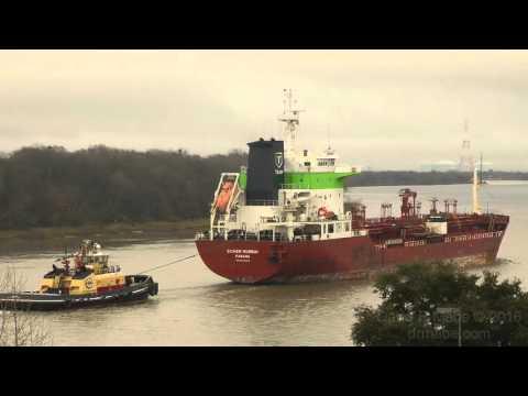 SICHEM MUMBAI Tanker Ship, Savannah GA 1/22/16