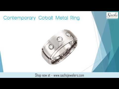 Diamond Jewelry - Contemporary Cobalt Metal Ring
