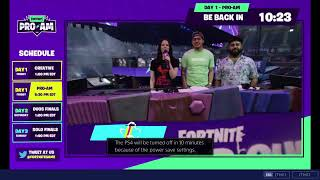 Fortnite World Cup 2019 Finals Live Day 1 Celebrity Pro-AM I Game Jam I Free Rewards I #Fortnitelive