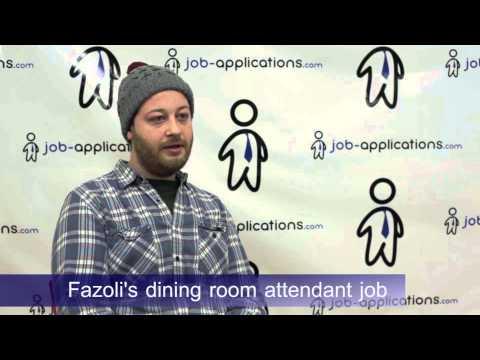 Fazoli's Interview - Dining Room Attendant