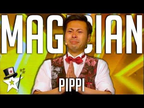 1..2..3 PIPPI! Comedy Magician Gets GOLDEN BUZZER on Asia's Got Talent | Magicians Got Talent