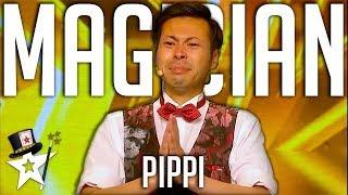 1..2..3 PIPPI! Comedy Magician Gets GOLDEN BUZZER on Asia's Got Talent   Magicians Got Talent