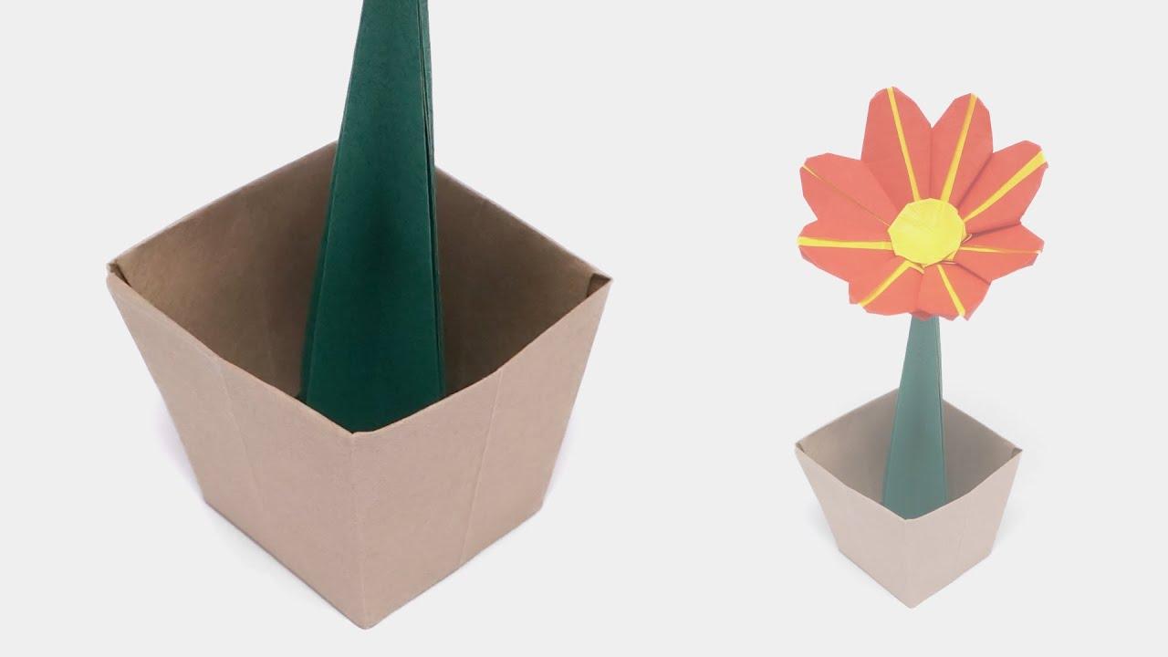 Origami Flower Pot Time Lapse Jo Nakashima Youtube