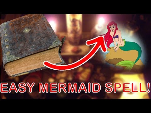 ❗REALLY WORKING Easy Mermaid Spell from OLD BOOK! 📖📜 CONFIRMED!