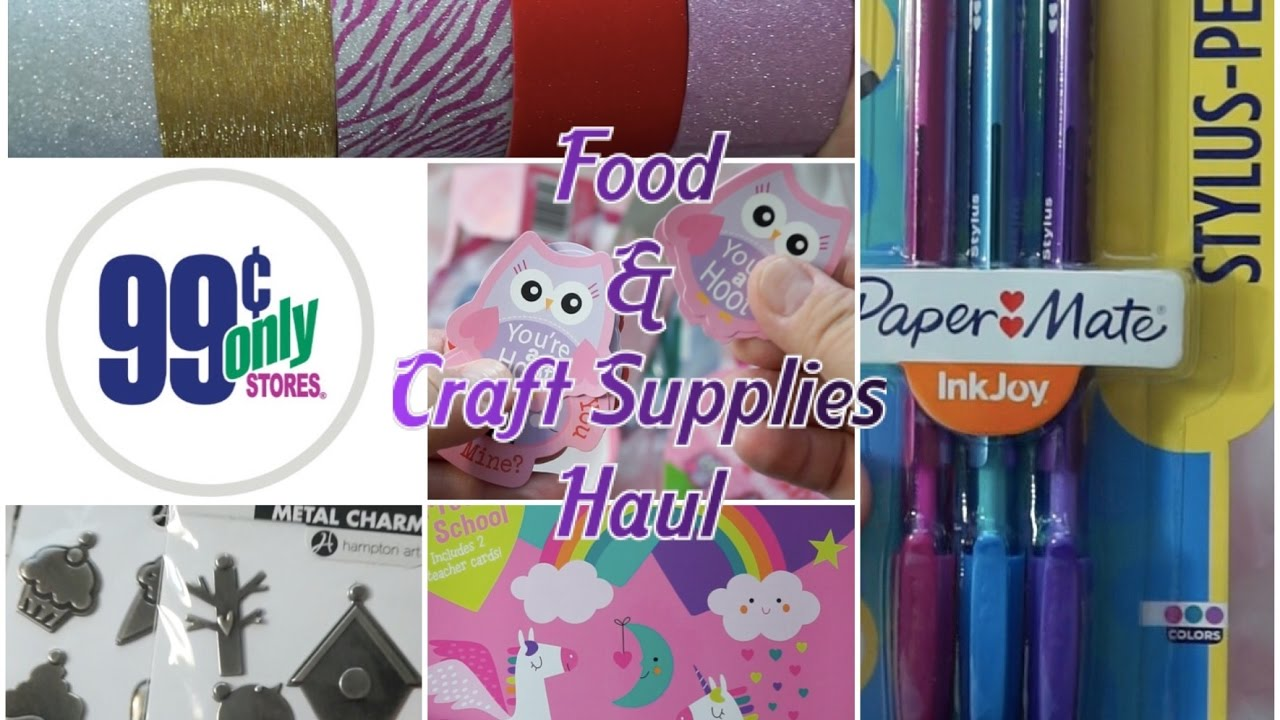 Food Valentines Craft Supplies 99 Cents Only Store Haul