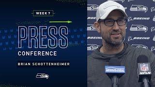 Offensive Coordinator Brian Schottenheimer Week 7 Press Conference | 2019 Seattle Seahawks