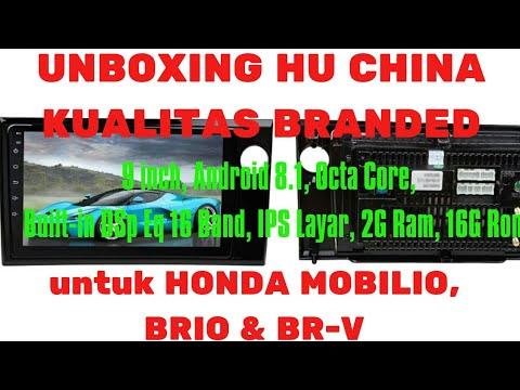 HEAD UNIT ANDROID OEM HONDA MOBILIO BRIO BRV / 9INC / OREO / OCTA CORE / 2G RAM / 16G ROM