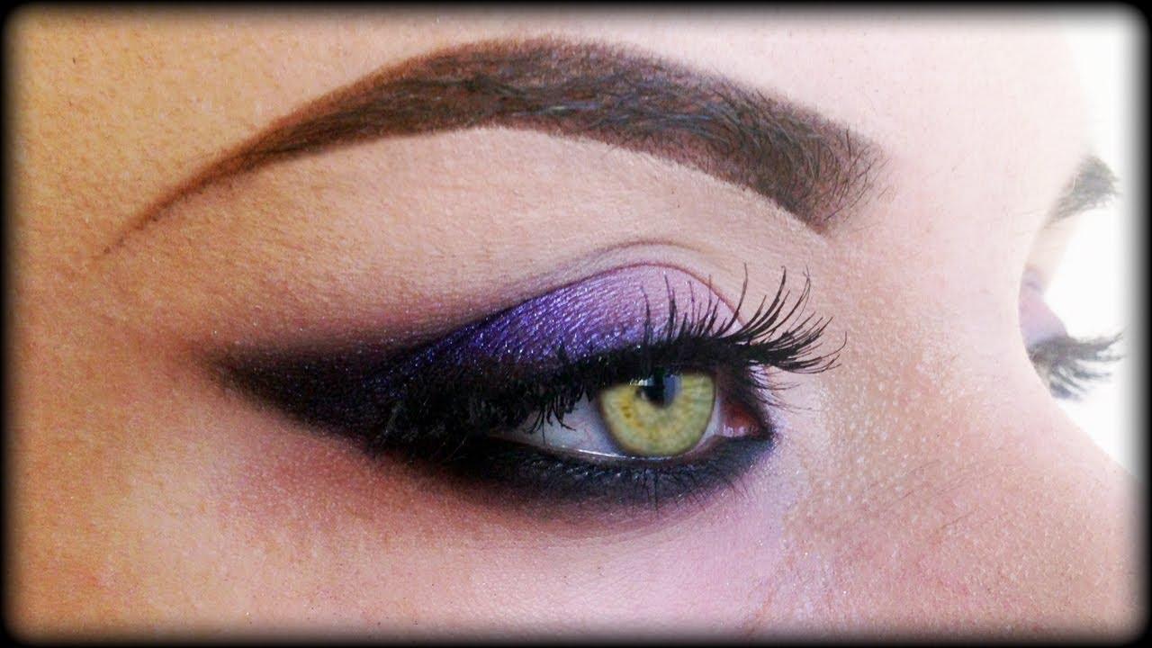 Sexy Purple New Years Eve Makeup Tutorial Trucco Viola Per