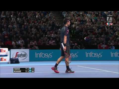 Roger Federer v. Kei Nishikori | London 2015 RR Highlights HD