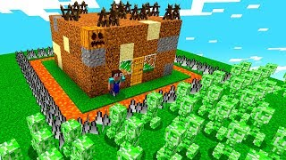 NOOB CONSTROI A CASA MAIS PROTEGIDA DO MINECRAFT!!