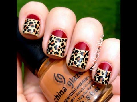 leopard nails art design