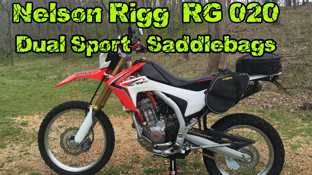 8f55d8ac161b Rigg Gear RG 020 Dual Sport Saddlebags Adventure Motorcycle - YouTube