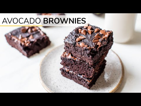 Double Chocolate Avocado Brownies | Clean & Delicious