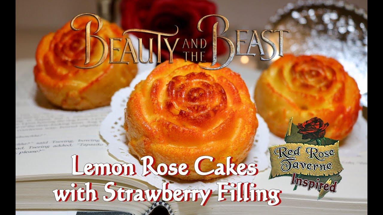 Lemon Rose Cakes With Strawberry Filling Red Rose Tavern Inspired
