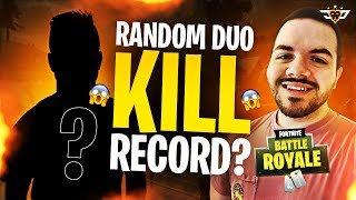 COURAGE'S RANDOM DUO KILL RECORD! THE KID WAS SHOCKED! (Fortnite: Battle Royale)