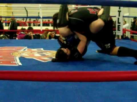 Emily Gue vs Lexus Randle Pankration fight  at Arnold's sport festival