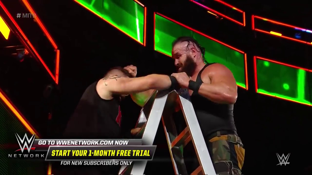 Strowman throws Owens off an enormous ladder  WWE Money in the Bank 2018 WWE Network Exclusive