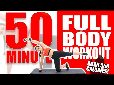 50 Minute Full Body Workout 🔥Burn 550 Calories! 🔥Sydney Cummings
